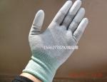 厂家直销高端碳纤维涂指手套 不掉毛不掉胶永久防静电