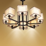 现代中式别墅吊灯 别墅客厅吊灯 客厅中式吊灯【灯迷汇照明】
